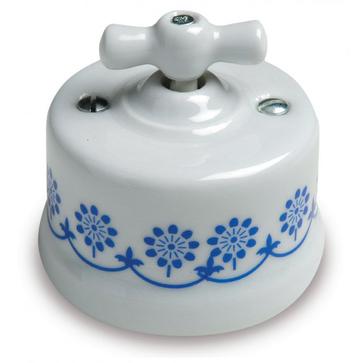 Wył. poj. natynkowy Fontini Garby porcelana - zdobienie niebieskie