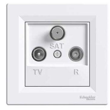 Gniazdo R-TV-SAT końcowe ASFORA -biały