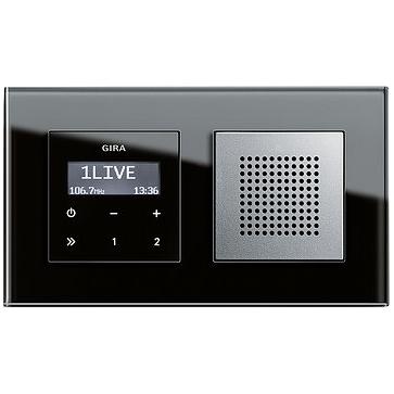 Radio LCD GIRA podtynkowe + ramka ESPRIT