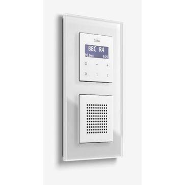 Radio LCD GIRA podtynkowe + ramka ESPRIT (1x021212+1x228203+1x228403)
