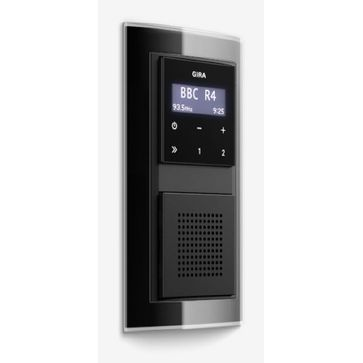 Radio LCD GIRA podtynkowe + ramka EVENT czarna