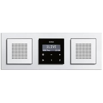 Radio LCD GIRA podtynkowe + ramka E2