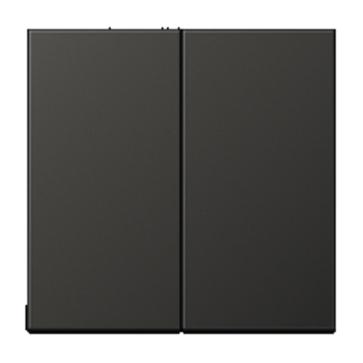 Przycisk chwilowy / dzwonek podwójny JUNG LS 990 czarny