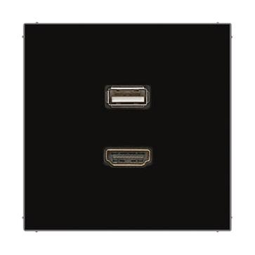 Gniazdo HDMI+USB JUNG LS 990 czarny