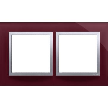 Ramka podw. SIMON 54 NATURE szklana kusząca śliwka