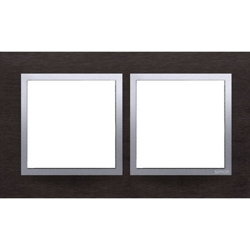 Ramka podw. SIMON 54 NATURE metalowa inox yin