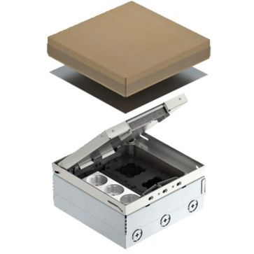 Puszka podłogowa UDHOME4 OBO BETTERMANN 3x230V + dwa puste moduły