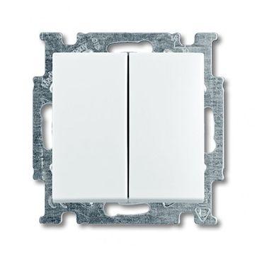 Wyłącznik podwójny schodowy ABB BASIC 55 biały alpejski