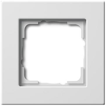 Ramka pojedyncza Gira E22 biały połysk