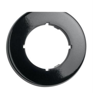 Ramka końcowa okrągła THPG bakelit czarny