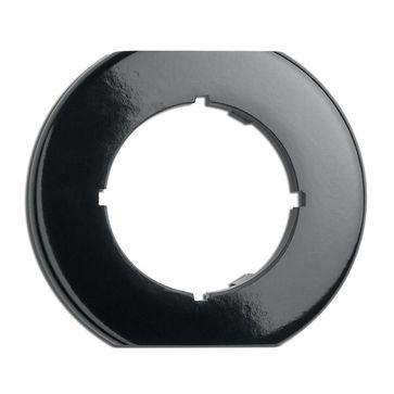 Ramka środkowa okrągła THPG bakelit czarny