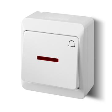 Przycisk dzwonek natynkowy HERMES podświetlany