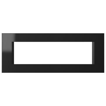 Ramka ozdobna MODUL LINE 7M czarny błyszczący