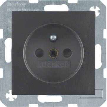 Gniazdo z/u Berker B.1/B.3/B.7 antracyt mat