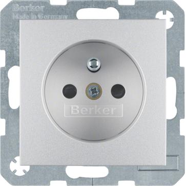 Gniazdo z/u Berker B.1/B.3/B.7 aluminium mat