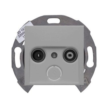 Gniazdo RTV końcowe Berker B.1/B.3/B.7 aluminium mat (1x53455010+1x12031404)