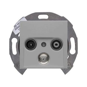 Gniazdo RTV-SAT końcowe Berker B.1/B.3/B.7 aluminium mat (53455310+12031404)