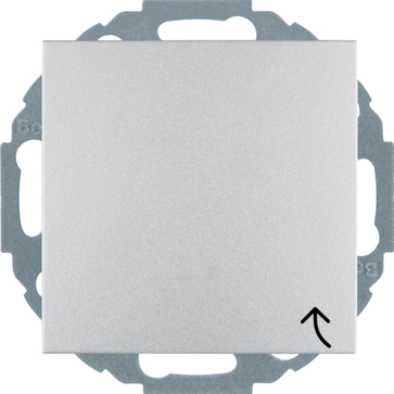 Gniazdo bryzgoszczelne z/u Berker B.1/B.3/B.7 aluminium mat