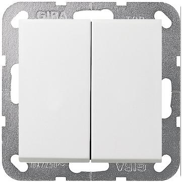 Wyłącznik podwójny F100 - biały