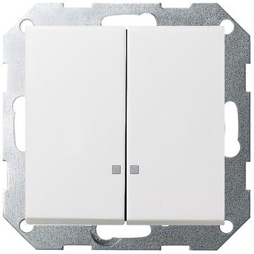 Wyłącznik podwójny podśw. F100 - biały