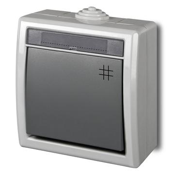 Wyłącznik krzyżowy natynkowy AQUANT IP55 szary
