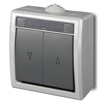 Wyłącznik żaluzjowy natynkowy AQUANT IP55 szary