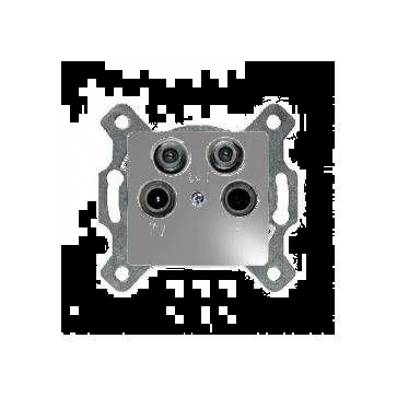 Gniazdo antenowe R-TV-2xSAT Berker B.1/B.3/B.7 aluminium mat