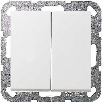 Wyłącznik podwójny schodowy F100 - biały