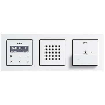 radio lcd gira podtynkowe ramka e2 stacja dokuj ca. Black Bedroom Furniture Sets. Home Design Ideas