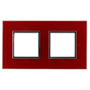 Ramka podwójna DANTE szkło czerwone