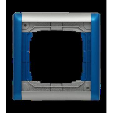 Ramka pojedyncza KOS 66 Plus aluminium, niebieski