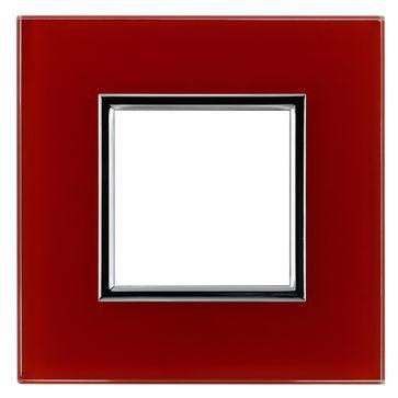 Ramka pojedyncza DANTE szkło czerwone