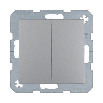 Wył. podwójny schodowy B.Kwadrat/B.3/B.7- aluminium mat