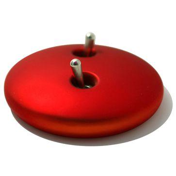 Wyłącznik podwójny dźwigniowy Realitem metal czerwony