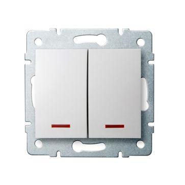 Wyłączniki podwójne LED MOWION LOGI