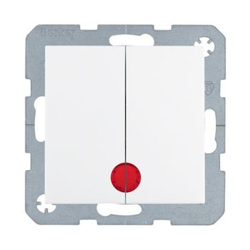 Wyłącznik podwójny podśw. B.Kwadrat/B.3/B.7- biały mat