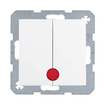Wyłącznik podświetlany podwójny B.Kwadrat/B.3/B.7