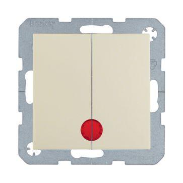 Wyłącznik podwójny podśw. B.Kwadrat/B.3/B.7- kremowy połysk