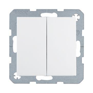 Wyłącznik podwójny schodowy Berker B.1/B.3/B.7- biały mat