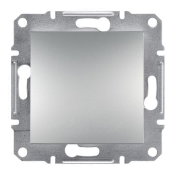 Wyłącznik pojedynczy Asfora aluminium bez ramki
