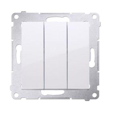 Wyłącznik potrójny podświetlany SIMON 54 biały