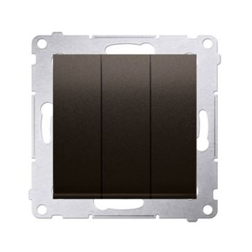 Wyłącznik potrójny podświetlany SIMON 54 brąz