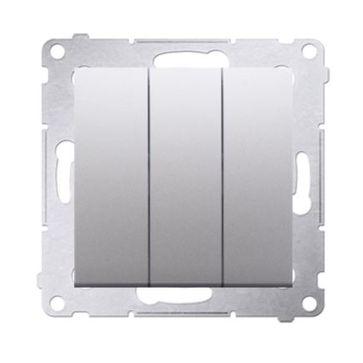 Wyłącznik potrójny podświetlany SIMON 54 srebrny
