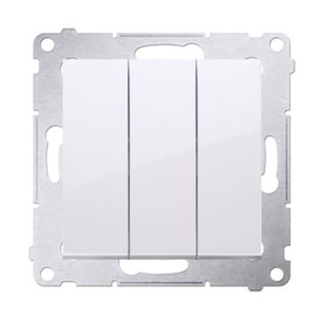 Wyłącznik potrójny SIMON 54 biały
