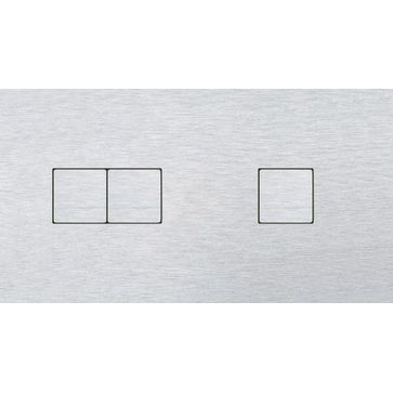 Wyłącznik przyciskowy 2+1 CJC LISA aluminium