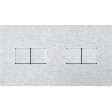 Wyłącznik przyciskowy 2+2 CJC LISA aluminium