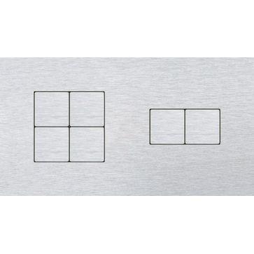 Wyłącznik przyciskowy 4+2 CJC LISA aluminium