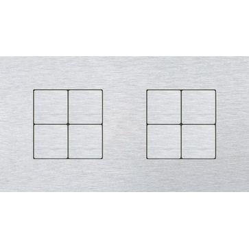 Wyłącznik przyciskowy 4+4 CJC LISA aluminium