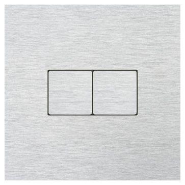 Wyłącznik przyciskowy podwójny CJC LISA aluminium